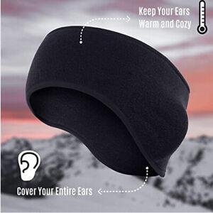 Ear Warmer Headband - Winter Ear Cover Running Ear Muffs for Men and Women Black