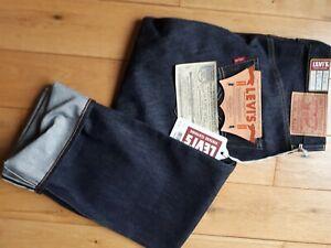 Levi's vintage clothing 501xx  W29 L34 Selvedge 1955 raw denim  rockabilly USA