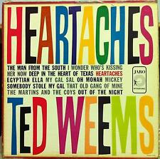 Ted Weems - Heartaches LP VG+ JAM-5006 Vinyl 1960 1st Press Jaro Rare Jazz