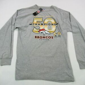 Denver Broncos tShirt NFL Football Super Bowl Champs 50 New with Tags Gray