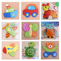 Kids Baby Wooden Animal Educational Toys Puzzle Montessori Early Learning