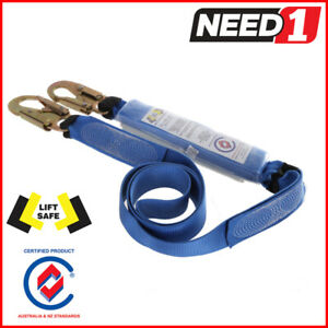 LIFT SAFE Energy Absorbing 2M Webbing Lanyard   Height Safety Snap Hook