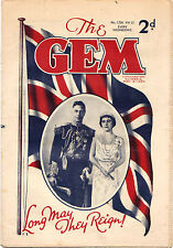 The GEM #1,526 (Amalgamated Press) KING GEORGE VI CORONATION. RARE VF comic 1937