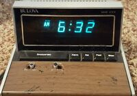 vintage Bulova digital alarm clock household desk Works!