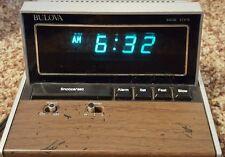 vintage Bulova digital alarm clock household desk Works!