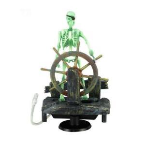 Action-Aquarium Ornament Skeleton Pirate Captain Fish Tank Decor Landscape