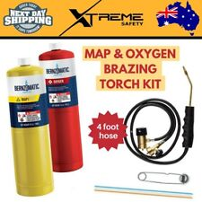 New Bernzomatic MAP and Oxygen Brazing Torch Gas Kit Portable Welding Cutting
