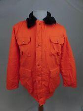 vtg Orange Alert Blaze Orange Insulated Thermal Work Hunting Jacket Mens Medium