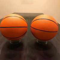Acrylic Football Ball Display Stand Case Basketball Soccer Holder Round 2.55""