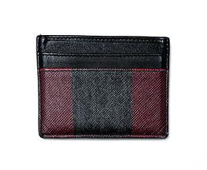 DIOR BLACK & RED LEATHER LOGO CARD CASE WALLET