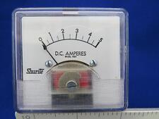 """Shurite 8203-Z Model 850, 0-5 DC AMP. 2-1/2""""W x 2-1/4""""H Analog Panel Meter"""