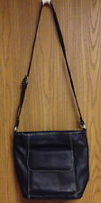 Le Donne Genuine Leather Deep Brown Shoulder Handbag in Great Condition