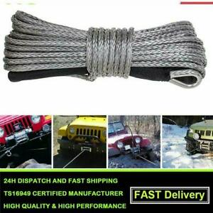 "7000 LBs ATV SUV Recovery Replacement 50'X1/4""Dyneema Winch Cable Rope R5W4"