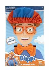 Blippi Roleplay Dress up Costume Hat Glasses Suspenders Bow Tie Shippin