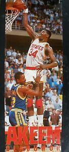 RARE HAKEEM OLAJUWON ROCKETS 1990 VINTAGE ORIGINAL DOOR SIZE NBA COSTACOS POSTER
