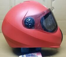 Rainbow Full Face Helmet For Ladies /Girls & Gents (Red Matt ) -56 cm