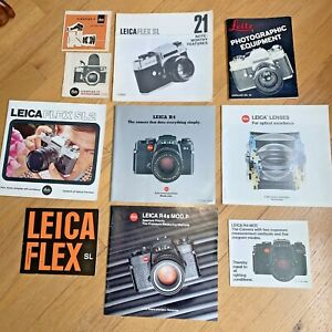 Lot of 10 Vintage LEICAZ LEITZ MANUALS - Flex SL2 / FR4 / Visoflex / R4