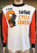 Vintage Fairfield Cycle Center Long Sleeve Mesh Jersey Shirt Viking USA Made L