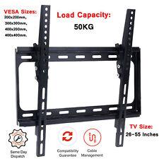 """TILT TV Wall Mount Bracket FOR 26 32 40 42"""" 43 49 50 55 INCHES 3D LCD LED PLASMA"""