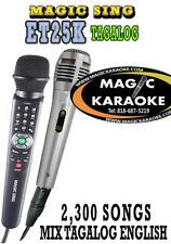 ET25K Magic Sing 2300 Tagalog English songs karaoke wired Mic Microphone