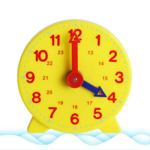 1Pc Children Educational Toys Gift Clock Learning Time Math School Teaching Aids