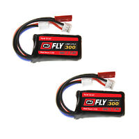 Venom Fly 30C 2S 300mAh 7.4V LiPo Battery with JST and E-flite PH Plug x2 Packs