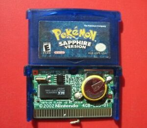 Pokemon Sapphire Nintendo Game Boy Advance *Authentic* Saves with Dry Battery