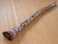 traditionelles Eukalyptus Didgeridoo Yidaki ocker Painting Note Fis 111,5 cm