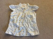 Free P&P Girls Cherokee cream floral short sleeved shirt blouse age 6 - 7 years