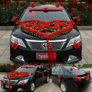 Weddings Car Decor Luxury Wedding Vehicle Decoration Garland Ornament Roses Love