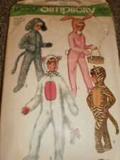 Vintage  Child  Costume  Pattern     size  6   Bunny  Dog  Cat