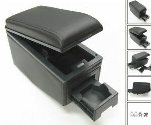 Armrest Centre Console Fits BLACK Audi A1 A3 A4 A5 A6 A8 RS Q Eco Leather New