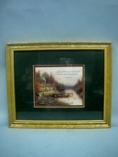 Thomas Kinkade ACCENT PRINT - THE END OF A PERFECT DAY- FRAMED- 1999 CERTIFICATE