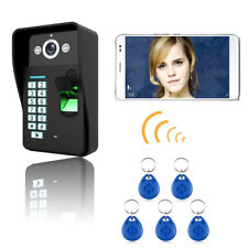 HD Wireless WIFI RFID Password Fingerprint Video Door Phone Doorbell Intercom