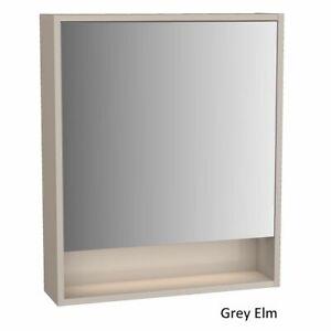 New Vitra Integra Grey Elm 60cm LED Mirror Cabinet - Left Hand [61989]
