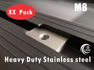 Slot Channel Nuts Rhino Pioneer platform roof rack awning M8 stainless steel X8