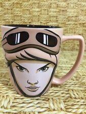 STAR WARS Disney Store Authentic Original 3D Rey Ceramic Coffee Mug 12oz Cup New
