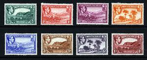 MONTSERRAT King George VI 1938-48 Pictorial Part Set SG 101 to SG 108 MINT