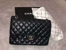 a43beb058387 Chanel Classic Flap Jumbo   Large Bag In Black Caviar With Box And Receipt