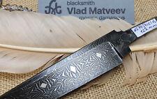 """Mosaik Damastmesser Klinge """"SHIELD"""" hunting knife blade mosaic damascus lame"""