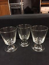 LIQUOR,LIQUEUR, CORDIAL  STEMED DRINKING GLASSES!! Set Of 3!!! ADD TO MAN CAVE!!
