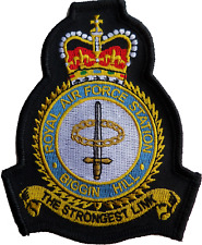 RAF Biggin Hill Royal Air Force MOD Crest Embroidered Patch
