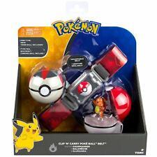Tomy Pokemon Clip 'N' Carry Poke Ball Timer Belt Charmander Figure Gift Toy Game