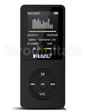 EVO RUIZU Black 8gb Lossless Mp3 Mp4 Player Music Video FM Tuner 80 HR Play