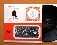 EXP 2 Birthday Bach London Bach Society 21st Birthday ORYX Stereo NM/EX