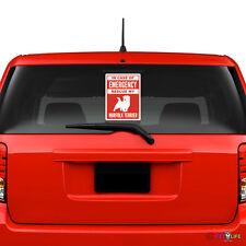 In Case of Emergency Rescue My Norfolk Terrier Windshield Sticker #2 dog safety