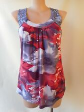 Katies blue red 2XL/16/18 sleeveless stretch top lined