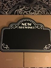 Movie Night Chalkboard Home Decor Theater Hanging Wall Picture Wooden Sign New
