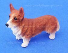 Miniature Dollhouse Welsh Corgi Dog 1:12 Scale New