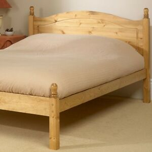 SOLID ANTIQUE PINE 4FT 3/4 SIZE ORLANDO LOW FOOT END BED FRAME MATTRESS EXTRA